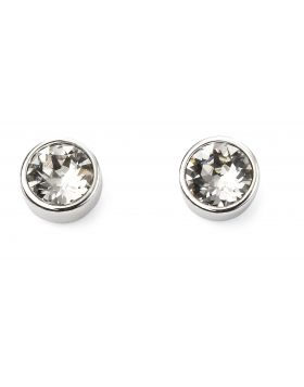 April Birthstone Crystal Swarovski Stud Earrings
