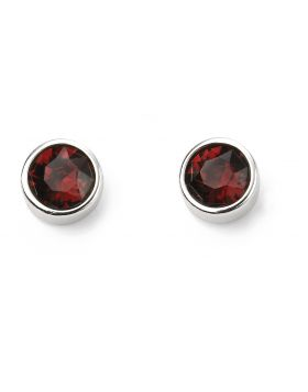 January Birthstone Garnet ( Burgundy) Swarovski Silver Stud Earrings