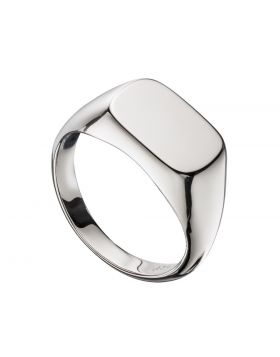Men's Plain Silver Signet Ring