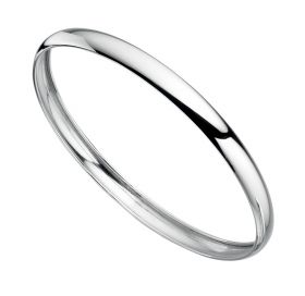 Solid Silver Bangle (standard))